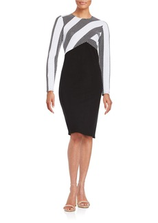 SHOSHANNA Contrast Stripe Sheath Dress
