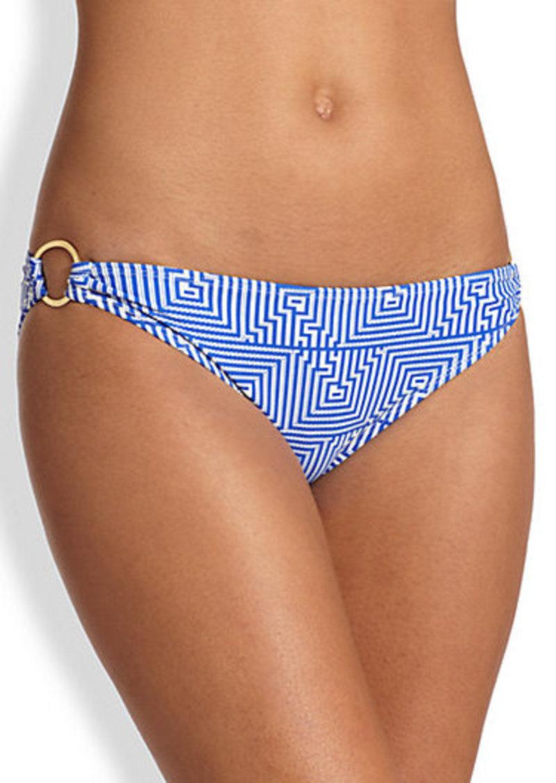 Shoshanna Corfu-Print Bikini Bottom