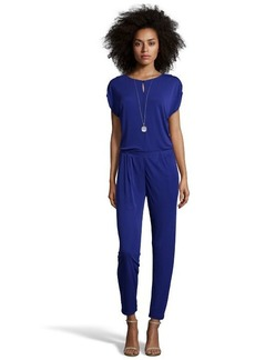 Shoshanna cosmic blue stretch woven 'Aleena' jumpsuit