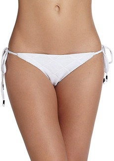 Shoshanna Diamond-Textured String Bikini Bottom