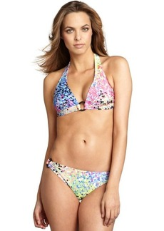 Shoshanna dot print stretch woven bikini bottom