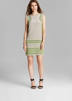 Shoshanna Dress - Brenda Sleeveless Geo Cutout Embroidered Shift