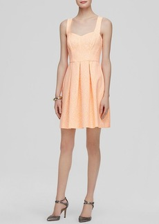Shoshanna Dress - Serena Neon Fit and Flare