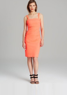 Shoshanna Dress - Techno Crepe Trilby Sleeveless Square Neck Sheath