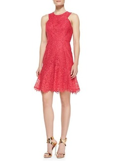 Shoshanna Eden Sleeveless Lace Dress, Watermelon
