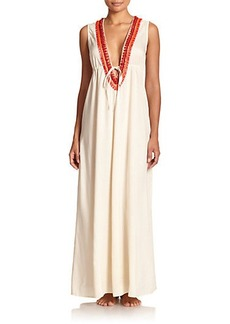 Shoshanna Embellished Maxi Dress