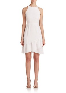 Shoshanna Ethel Crepe Halter Dress