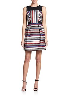 Shoshanna Fannon Striped Jacquard Dress