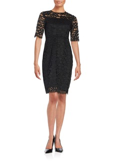 SHOSHANNA Floral Lace Sheath Dress