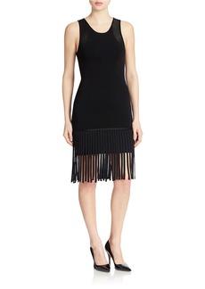 SHOSHANNA Fringed Sheath Dress