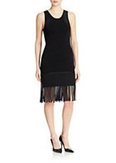 SHOSHANNA Fringed Sheath Dress