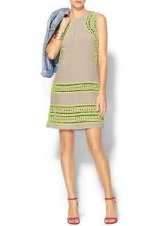 Shoshanna Geo Cutout Embroidered Brenda Dress