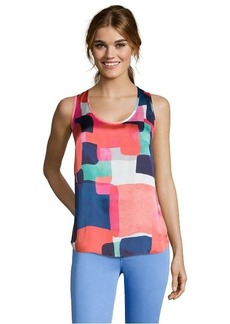 Shoshanna geo sunrise geometric print woven 'Parker' sleeveless top