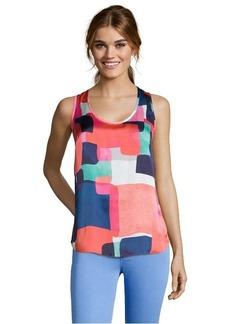 Shoshanna geo sunrise geometric print woven 'Parker' sleeveless top