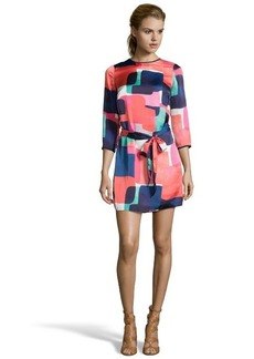 Shoshanna geo sunrise geometric print woven 'Paula' long sleeve dress