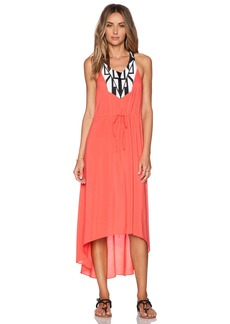 Shoshanna Graphic Embroidery Maxi Dress