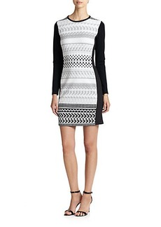 Shoshanna Graphic Stretch Knit Yeri Dress