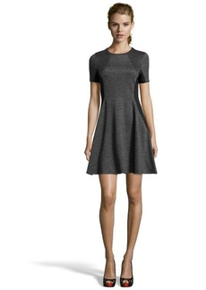 Shoshanna heather grey ponte knit 'Bennett' fit and flare illusion dress