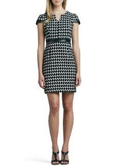 Shoshanna Houndstooth Sheath Dress