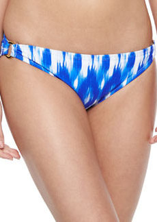 Shoshanna Ikat-Print Hipster Swim Bottom, Blue/White