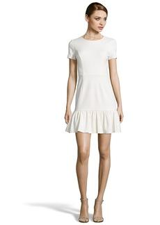Shoshanna ivory ponte knit 'Jenny' short sleeve fit ...