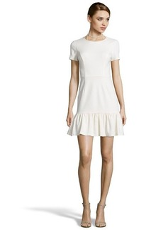 Shoshanna ivory ponte knit 'Jenny' short sleeve fit and flare dress