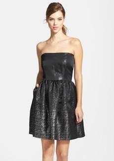 Shoshanna Jacquard Fit & Flare Dress