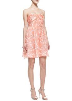 Shoshanna Jennifer Strapless Printed Chiffon Dress  Jennifer Strapless Printed Chiffon Dress