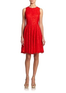 Shoshanna Judith Lace Fit-&-Flare Dress
