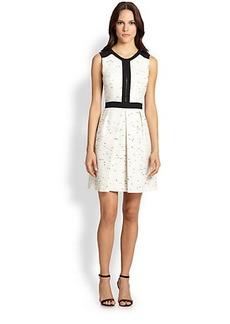 Shoshanna Katya Tweed Combo Dress