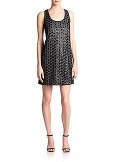 Shoshanna Kimberley Sequined Polka Dot Dress