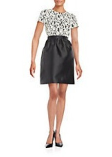 SHOSHANNA Lace-Accented A-Line Dress
