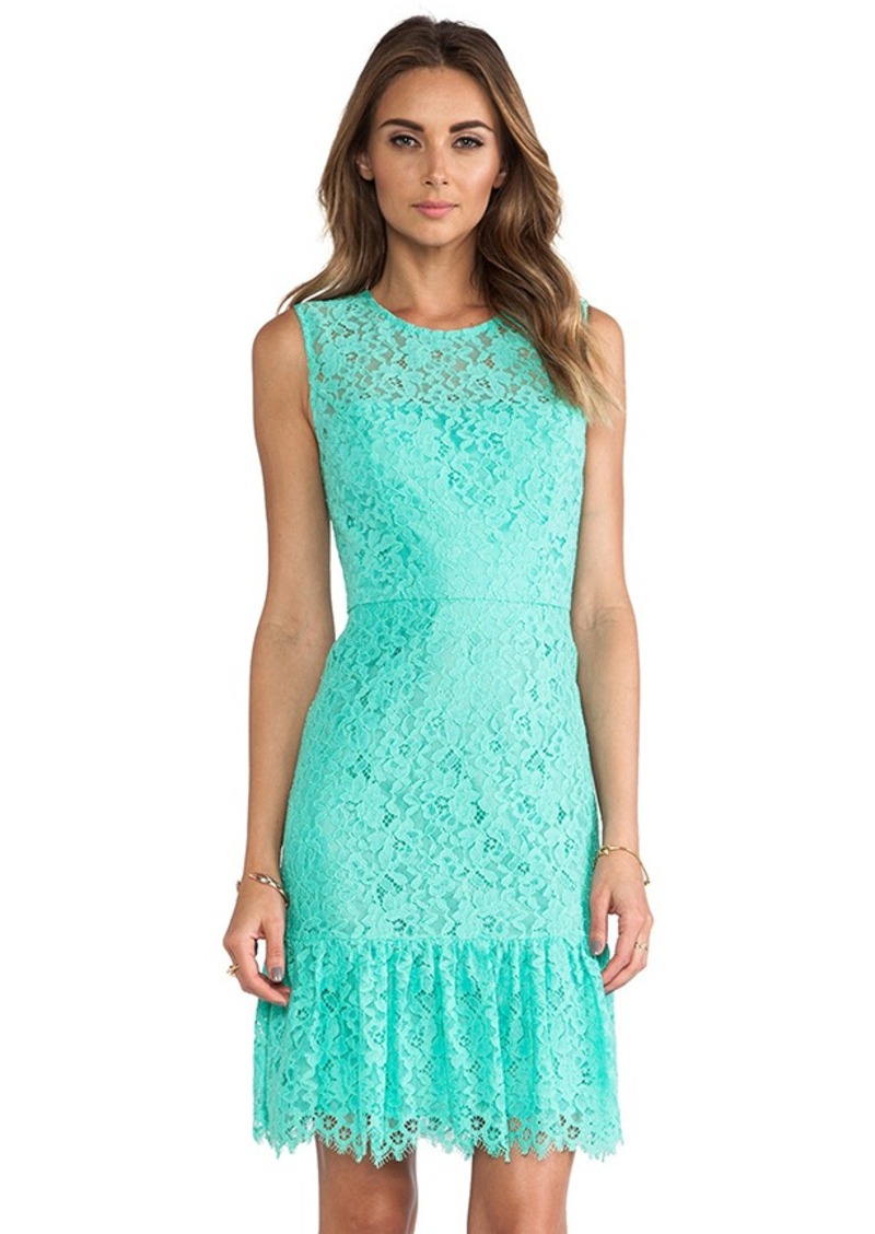 Shoshanna Lace Dress in Green