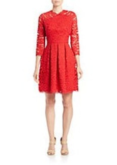 SHOSHANNA Lace Fit-and-Flare Dress