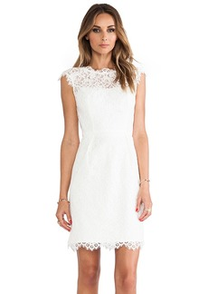 Shoshanna Lace Scarlett Dress in Ivory