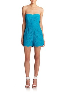Shoshanna Lace Strapless Short Jumpsuit