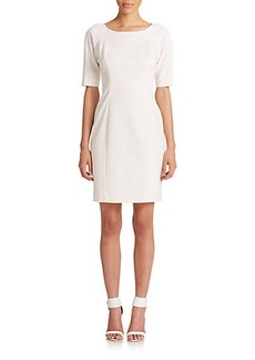 Shoshanna Lainey Pebbled Crepe Dress