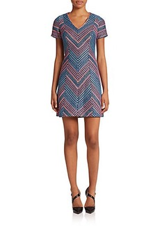 Shoshanna Laisha Neon Stripe Dress