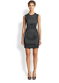 Shoshanna Laser-Cut Scuba Dress