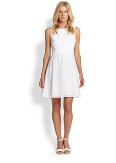 Shoshanna Lauren Eyelet Sheath Dress