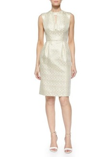 Shoshanna Laurie Metallic Jacquard Sheath Dress