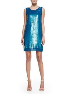 Shoshanna Leandra Sleeveless Sequin Mini Dress