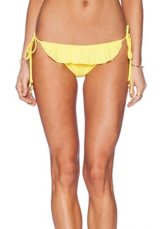 Shoshanna Lemon Ruffle String Bikini Bottom