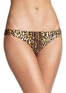 Shoshanna Leopard-Print Classic Bikini Bottom