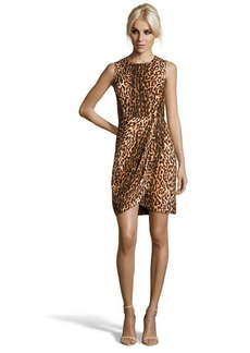 Shoshanna leopard print silk blend 'Kathleen' sheath dress