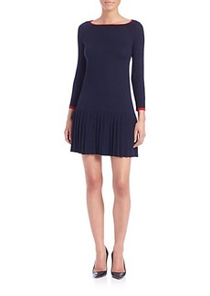 Shoshanna Lisette Pleated Sweater Dress