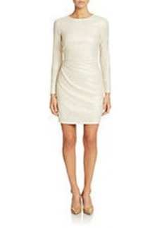 SHOSHANNA Long-Sleeve Cropped Sheath Dress
