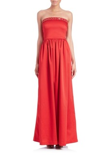 Shoshanna Lulu Strapless Faille Gown