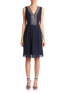 Shoshanna Luna Embroidered Fit-&-Flare Dress