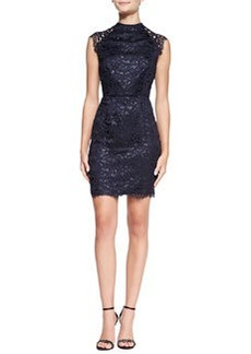 Shoshanna Mariah Sleeveless Lace Sheath Dress